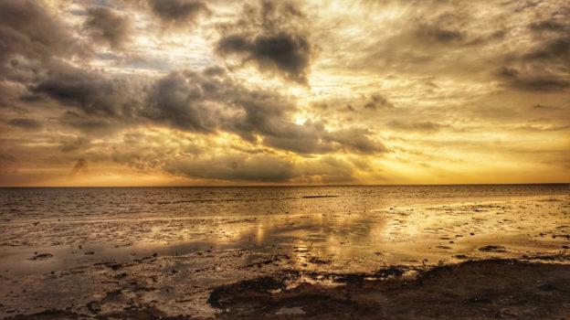 Klima: Sonnenuntergang auf Borkum