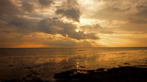 Sonnenuntergang auf Fanø.