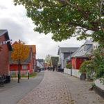 Die Hauptstraße von Nordby - Einkaufsstraße und Treffpunkt.