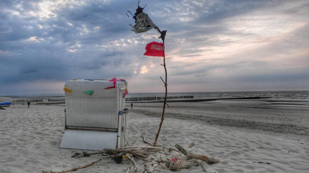 Der letzte Korb am Strand von Wangerooge