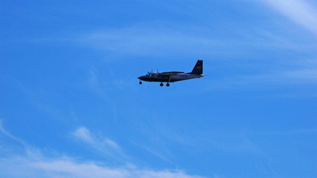 Der Inselflieger ist die Abkürzung für die Anreise nach Wangerooge