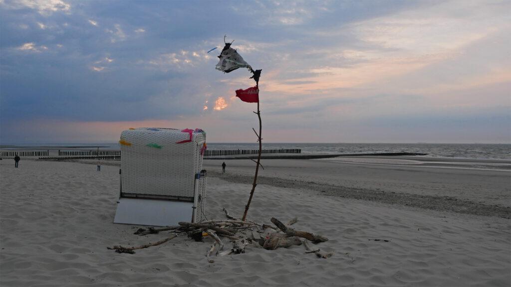 Piraten-Strandkorb am Surferstrand