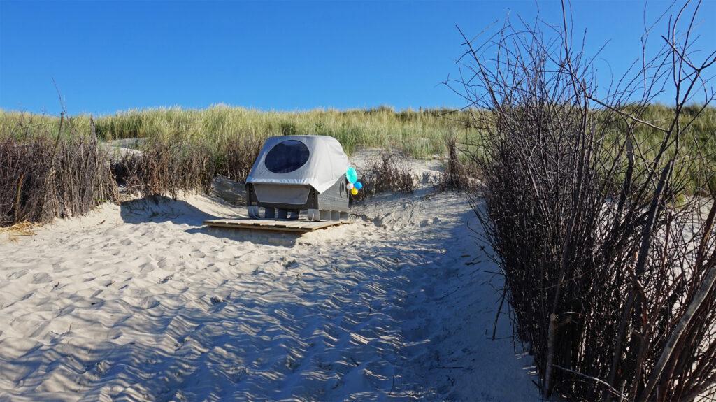 Schlafkorb am Strand von Wangerooge