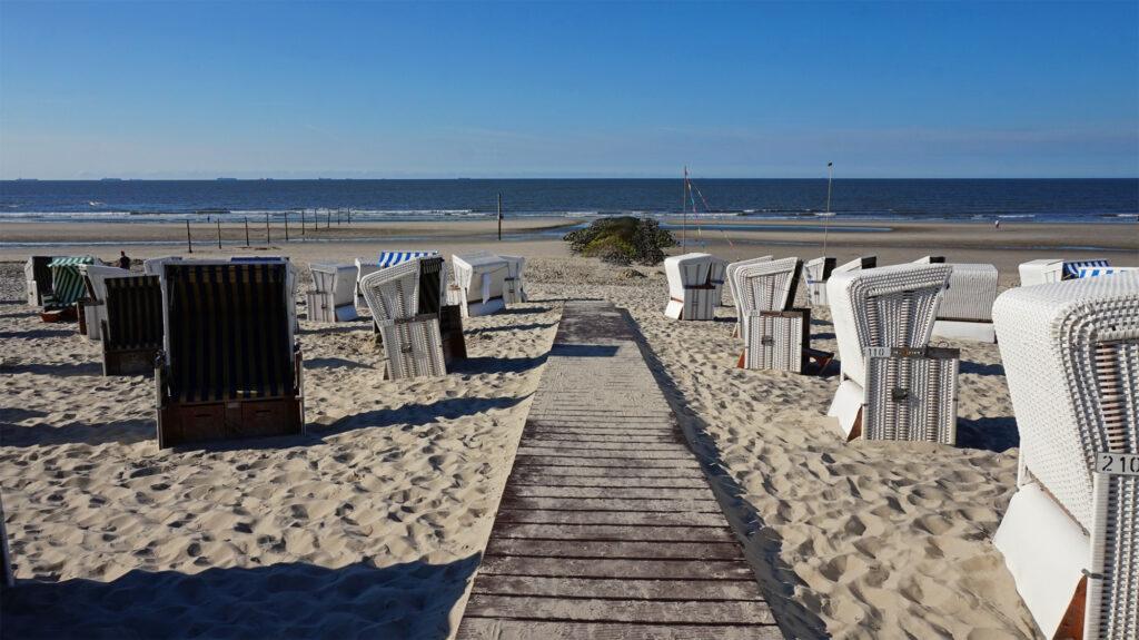 Auswahl der Strandkörbe